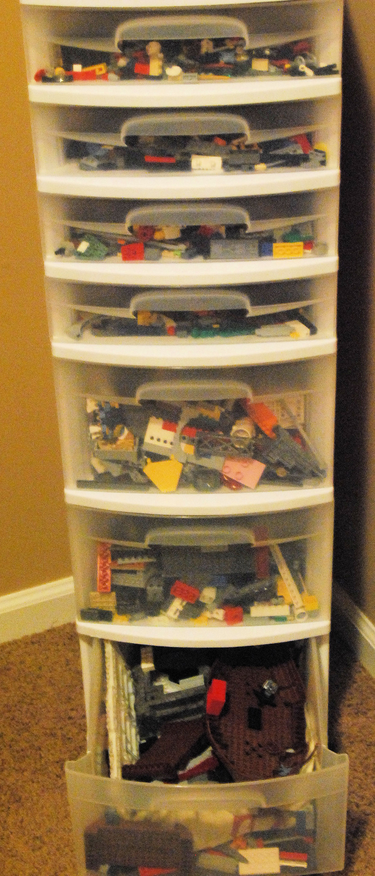 step 2. purchase multi drawer cart from Wal Mart ... & Anyone Can Do This: Lego Storage u2013 ordinary mother