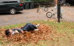 raking leaves caleb 4