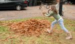 raking leaves maggie 2